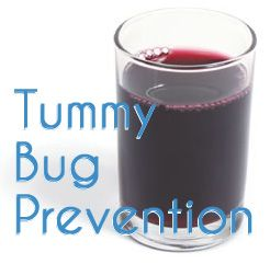 """Stomach Bug Prevention Trick via """"i should be mopping the floor""""= 100% grape juice and [optional] apple cider vinegar."""