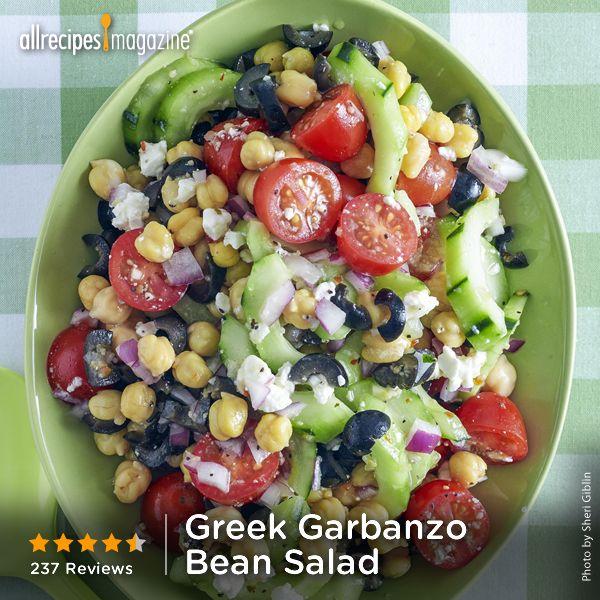 Greek Garbanzo Bean Salad | Recipe
