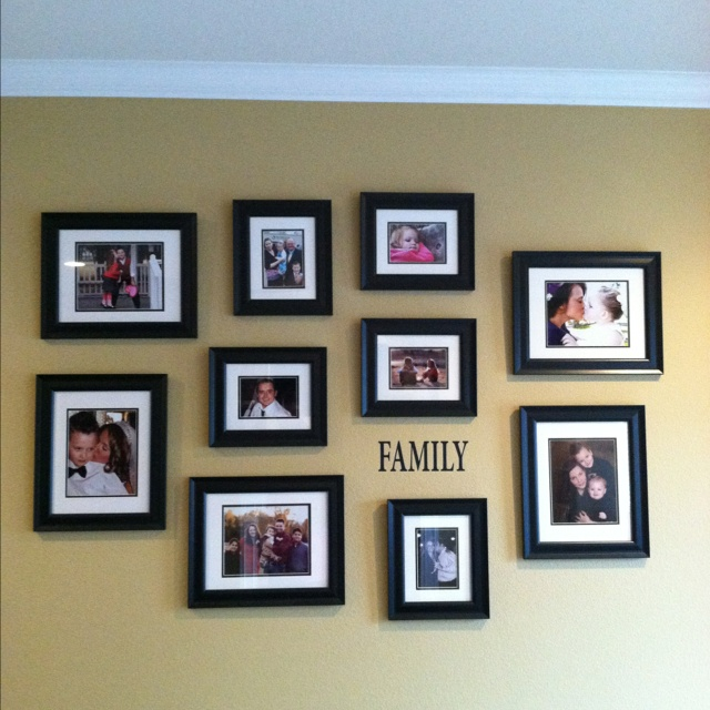 My family wall collage | For Our Home | Pinterest