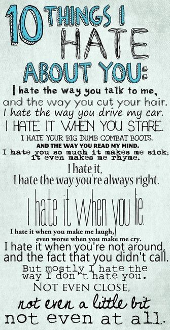 10 Things I Hate About You - One of my all time favorite movies!