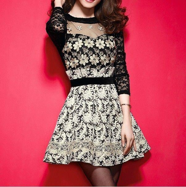 Women's #Fashion #Clothing: #Dresses: Stylish Sexy Long Sleeve Black