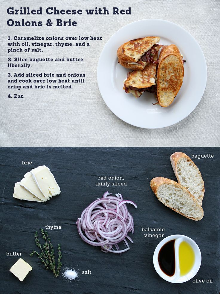 Grilled Cheese with Red Onions & Brie | Favorite Recipes | Pinterest