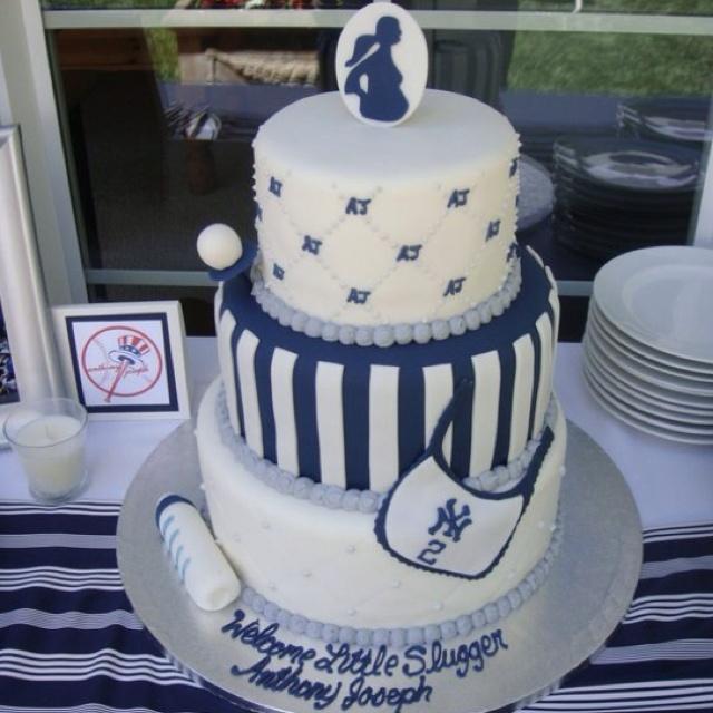 Baby Shower Cake, New York Yankees