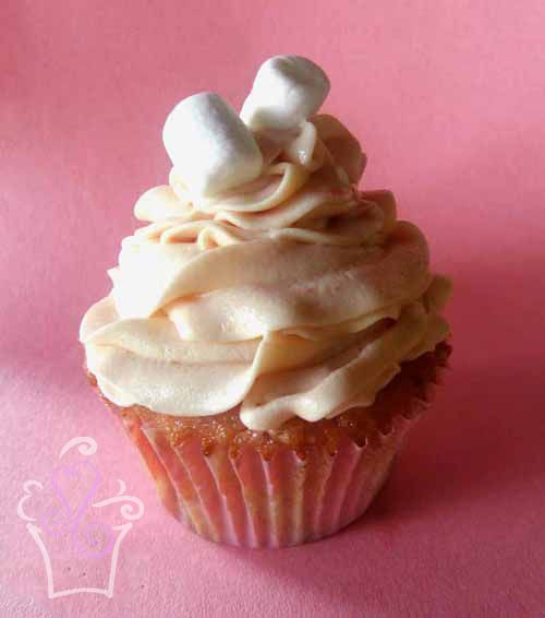 ... marshmallow fluff, covered with strawberry marshmallow frosting #
