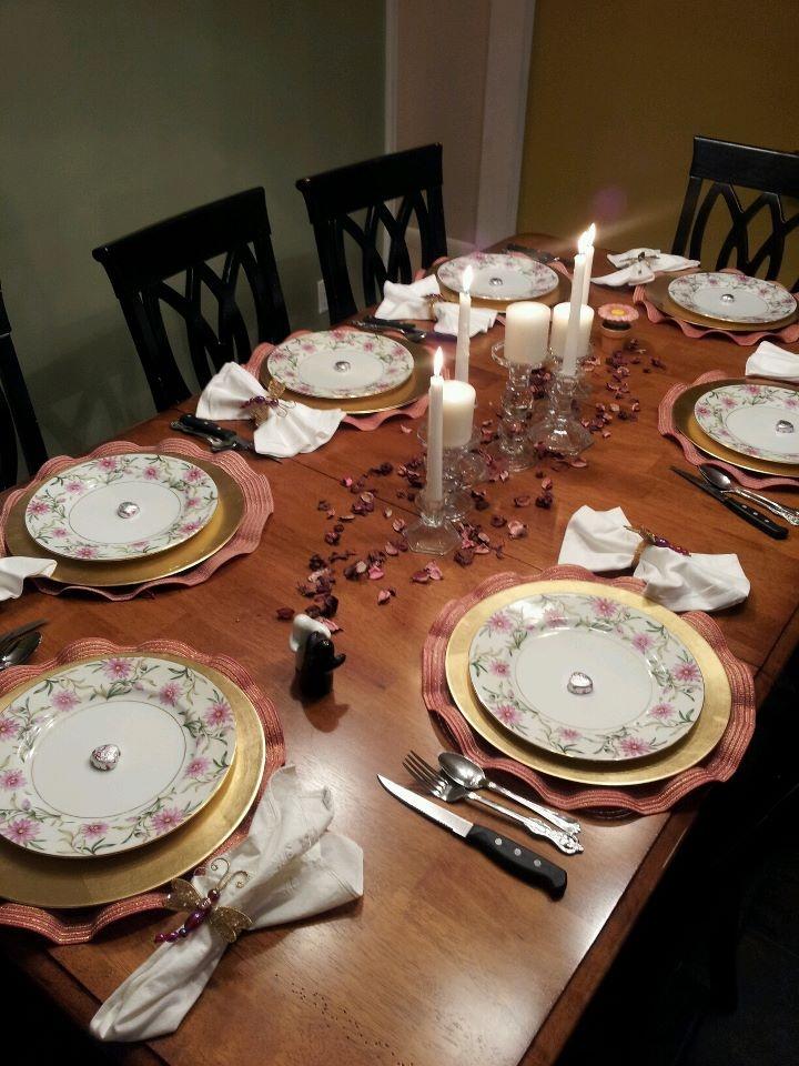 Valentine Table Setting Christmas Holidays Pinterest