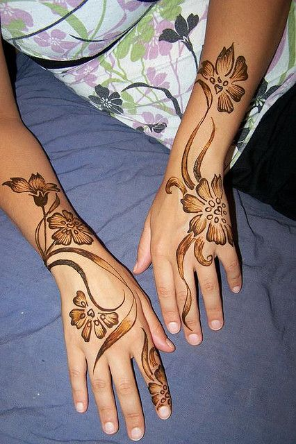 Back Hand Side Henna Design - 7
