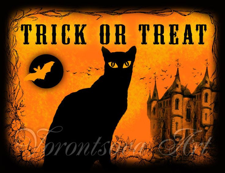 Printable Halloween Decorations Cat