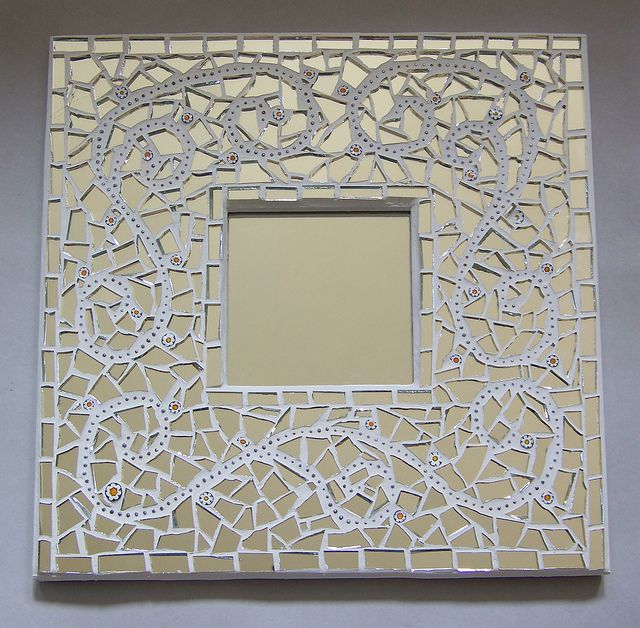 Mosaic mirror mosaics with mirrors pinterest for Mosaic mirror