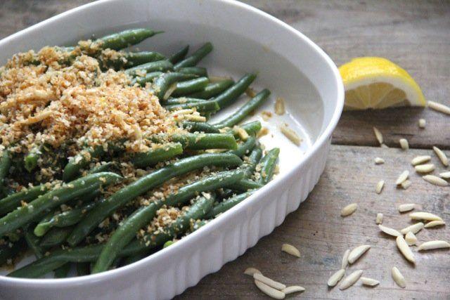 Green Beans with Lemon Breadcrumbs & Almonds | Recipe