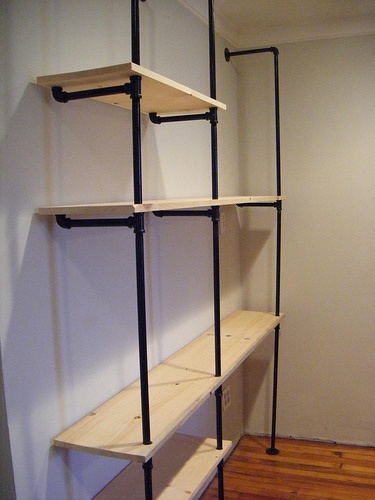 diy pipe shelving love something like this especially for shelves