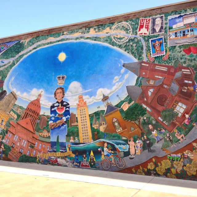 Mural in downtown austin texas heritage pinterest for 6 blocks from downtown mural