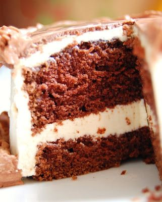 Cast Sugar: Devil's Food Cake with Brown Sugar Buttercream