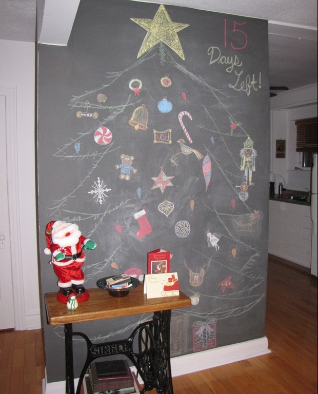 Chalkboard Christmas Tree | whimsical things for my child | Pinterest