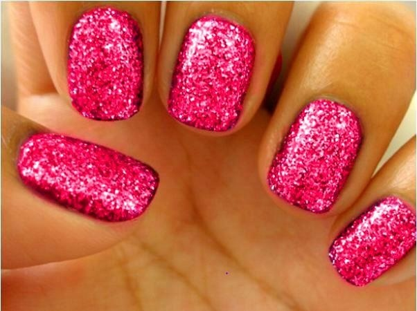 pinke n gel glitzer nails nailart pinterest. Black Bedroom Furniture Sets. Home Design Ideas