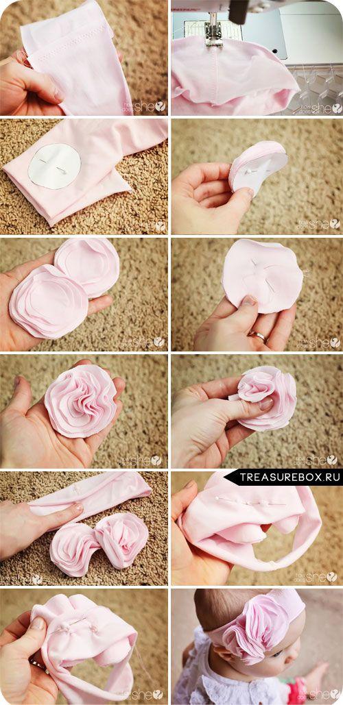 Как сшить повязку на голову малышу 44