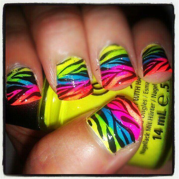 {Neon Zebra Rainbow}