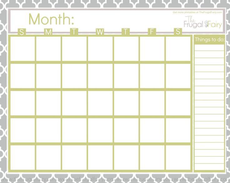 Blank Calendar Printables | Calendar Template 2016