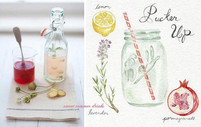 summer drinks by ginnybranch, via Flickr