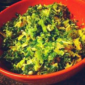 Nalls' Kitchen: Shredded Brussels Sprouts & Kale Salad with a Lemony ...