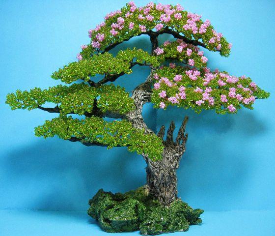 Бисер бонсай дерево