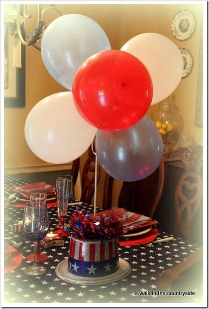 fourth of july balloon animals