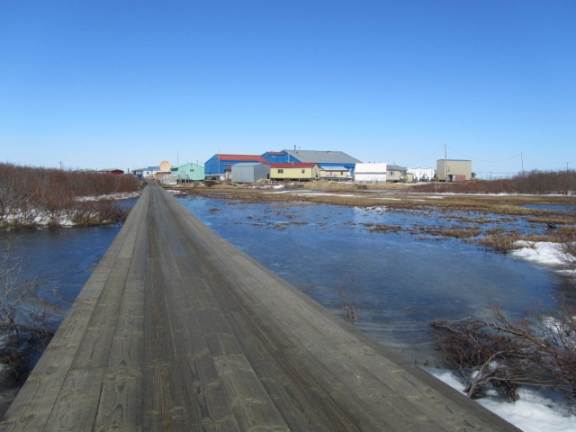 We are not on the road system in the bush.  We get around the marshy areas by a series boardwalks by foot or 4 wheelers.