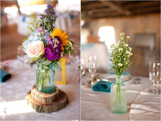 Wood centerpiece wedding pinterest