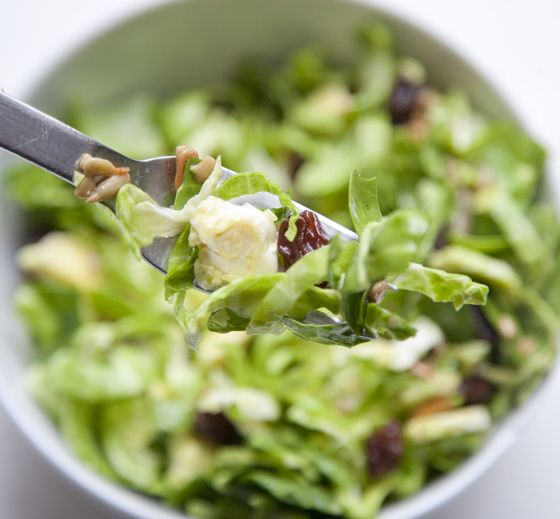 Shredded Brussels Sprout Salad | nom nom nom | Pinterest