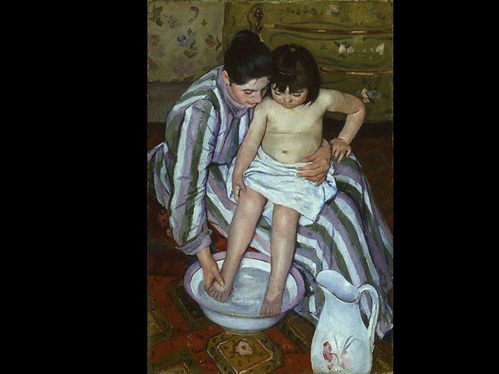 a painting analysis the childs bath by mary cassatt The child's bath by mary cassatt, painted in 1893, demonstrates mary cassatt's increased interest in japanese art in her later career cassatt admired utamaro, a late 18th-century ukiyo-e master who was renowned for his portrayal of the private lives of women going about their daily activities in the child's bath, mary.