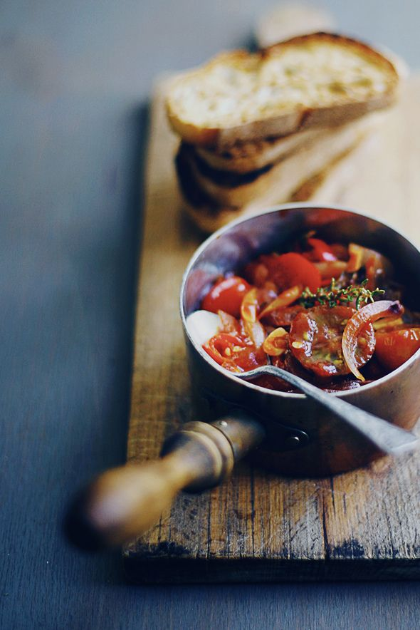 Tomato on toast | Manly Appetizers and Side Dishes | Pinterest