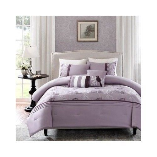 Purple Comforter Set 5 Piece Bedroom Furniture Bedding Lavender Plum