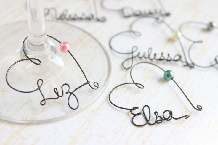 Personalized Wedding Wine Glass Charms : Personalized Wine Glass Charms - Wedding Favor Wine Glass Charms, Bri ...