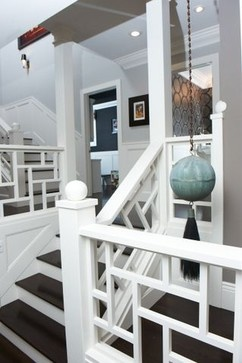 Cool california living room eclectic staircase