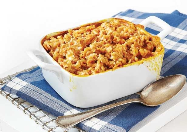 Baked Pumpkin Spice Oatmeal: Oats keep your muscle gains up and belly ...