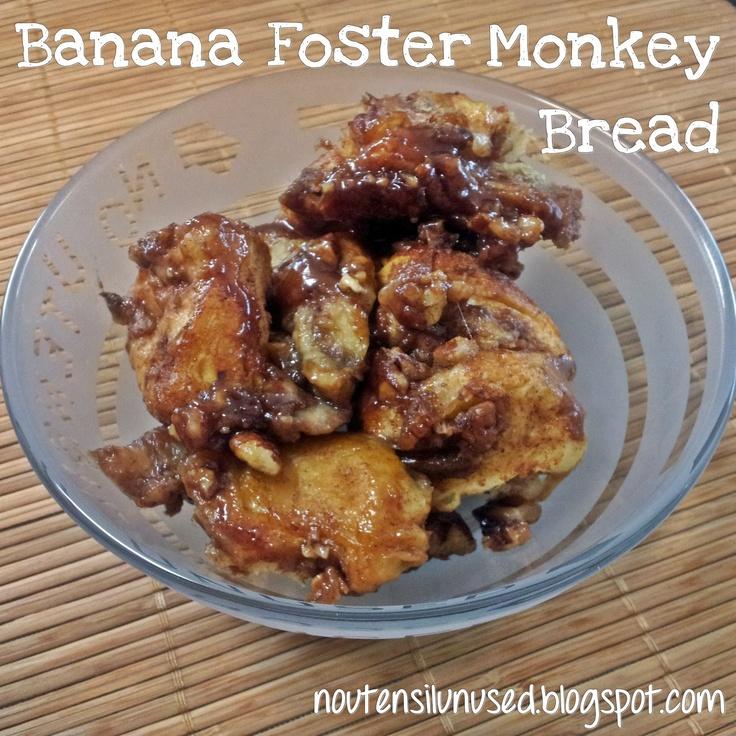 Banana Foster Monkey Bread Recipe | No Utensil Unused
