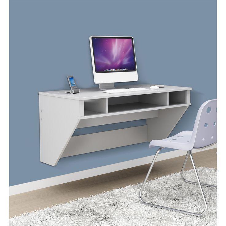 Prepac Soho White Floating Desk