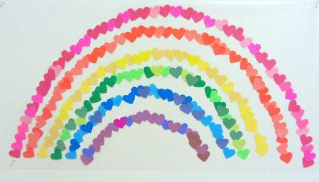valentine's day rainbow cake