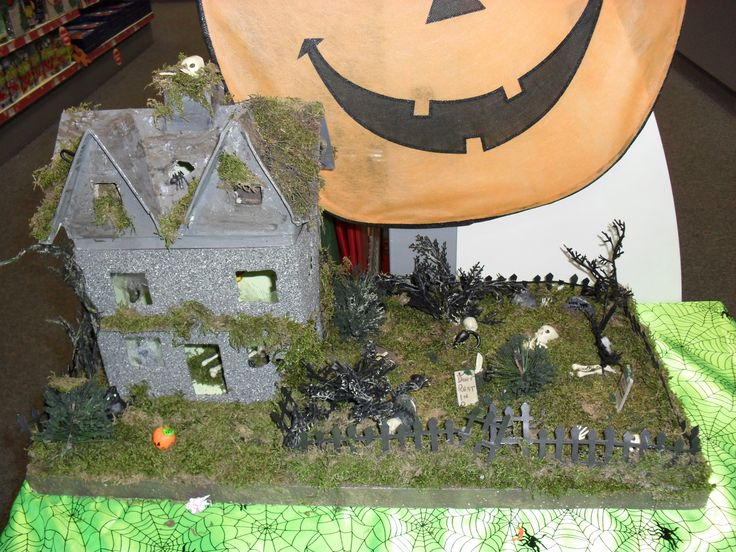 Hauntrd house made out of paper mache my handmade things for Things made out of paper mache