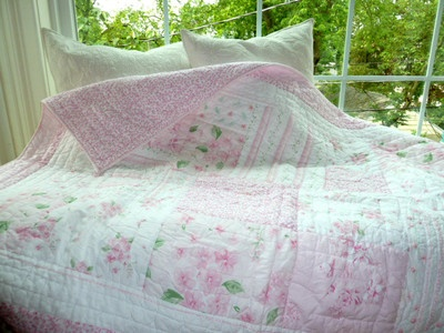 Pottery Barn Kids Twin Floral Patchwork Jacqueline Quilt Pink | eBay