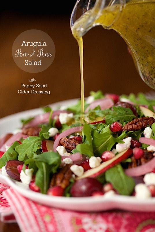 ... grapes. A poppy seed and apple cider dressing is the perfect pairing
