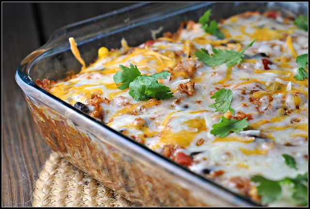Chicken Enchilada Quinoa Bake. Made this 2x in the past 2 weeks. SO good and great leftover