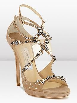 Jimmy Choo Nude Diamond Shoes