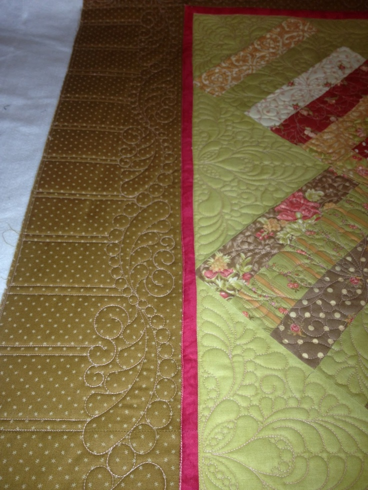 Quilting Designs For Borders : Cool quilting on border FMQ - Borders, Sashing Pinterest