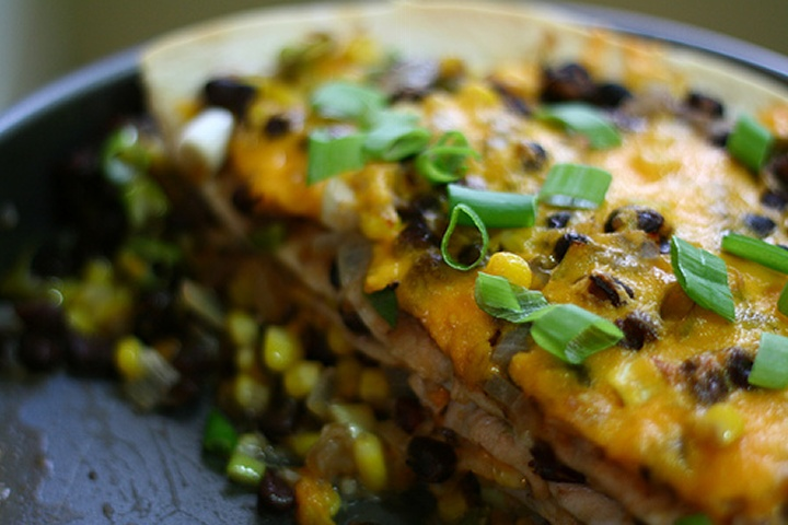 Tortilla pie | Maybe....for the Pinterest Party! | Pinterest
