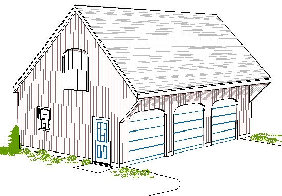 Three bay garage plans google search how to pinterest for Saltbox garage plans