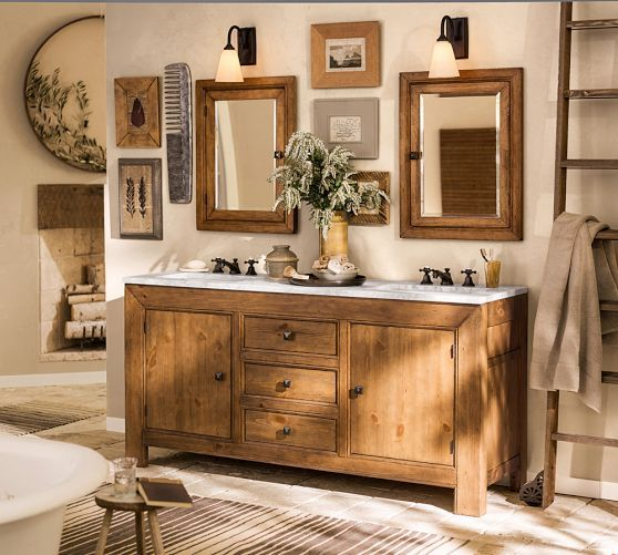 Rustic Luxe Bathroom Pottery Barn For The Home Pinterest