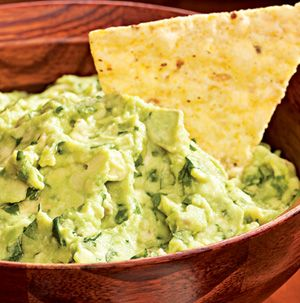 It's a party! Put together Roasted Garlic Guacamole and serve it with ...