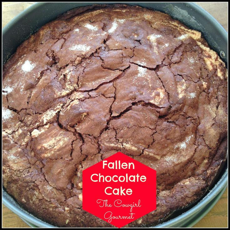 Fallen Chocolate Cake | The Cowgirl Gourmet