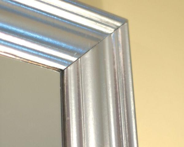 diy silver leaf mirror using krylon original chrome. Black Bedroom Furniture Sets. Home Design Ideas