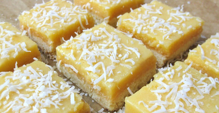 Creamy coconut lemon squares. Yum! | Yum Yum Recipe Fun | Pinterest